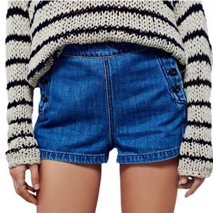 Free People Lumineer High Rise Sailor Short Button